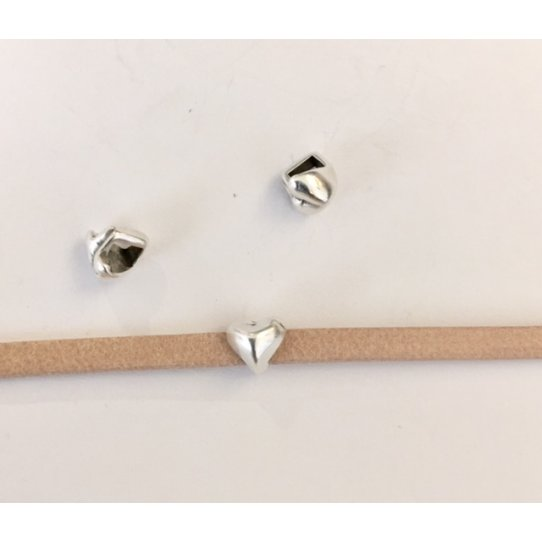 Passant cœur pour cuir 3mm plat