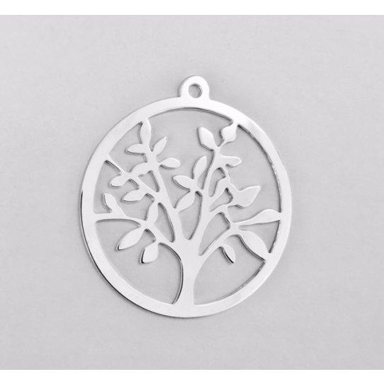 Pendant arbre de vie en laiton plaqué 10 microns Fabrication Française