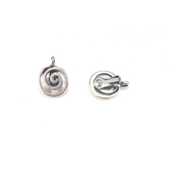 Boucles d'oreilles à clips forme spirale