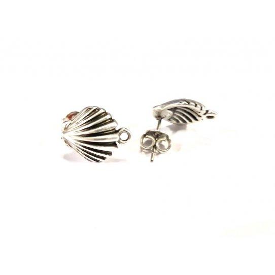 Boucles d'oreilles à clous en forme de coquillage