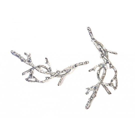 Grande intercalaire branche d'arbre avec deux anneaux