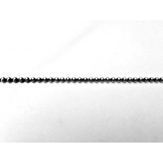 1.65mm Chaine boule laiton plaquée 12 microns FR