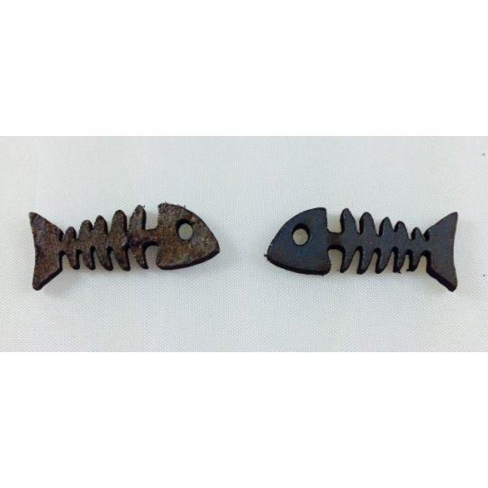 10 Arêtes de poisson en cuir
