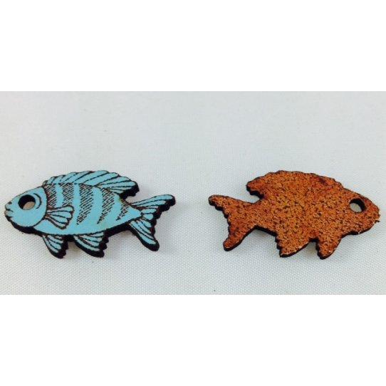 10 pendant poisson en cuir , coupe laser