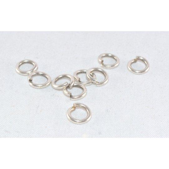 100 anneaux laiton argent antique 6mm ou bronze