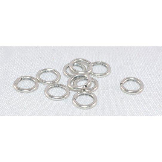 100 anneaux laiton argent antique 8mm
