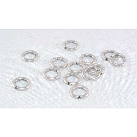 100 anneaux laiton argent antique 9mm