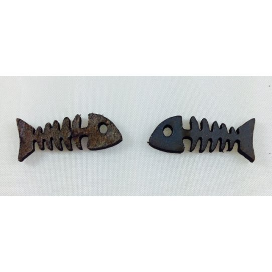 5 Arêtes de poisson en cuir