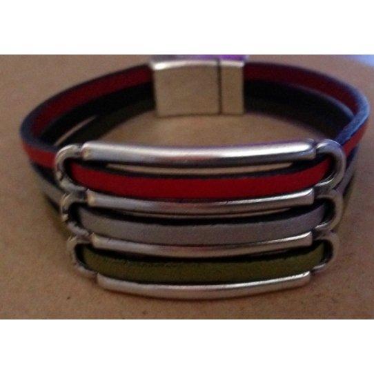 5 Passants  pour cuir 3mm rond ou plat