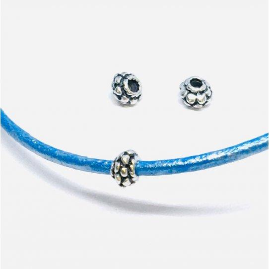 50 Perles de 5mm de diamètre et trou 2.10mm , 12 cts ttc l'unité