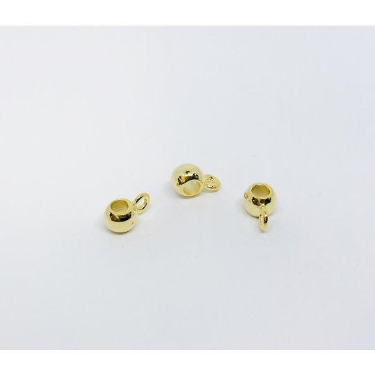 Accroche breloque pour cuir 3-3.5 mm rond