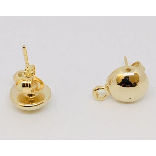 Boucles d'oreille à clous forme demi sphère