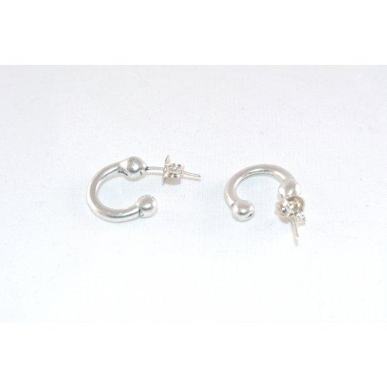 Boucles d'oreille demi- créole plaqué argent