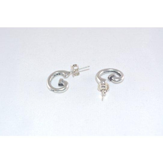 Boucles d'oreille demi-créole  plaqué argent