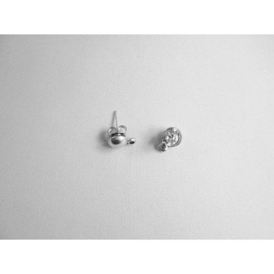 Boucles d'oreilles à clous en forme de demi sphère