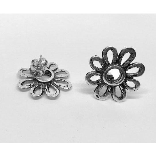 Boucles d'oreilles à clous en forme de fleur