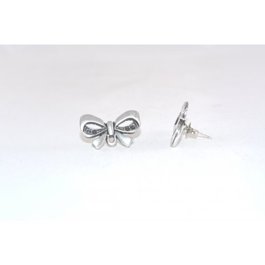 Boucles d'oreilles à clous en noeud papillon