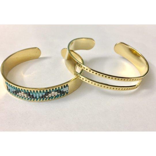 Bracelet en laiton pour miyuki, doré à l'or fin 24 carat en France