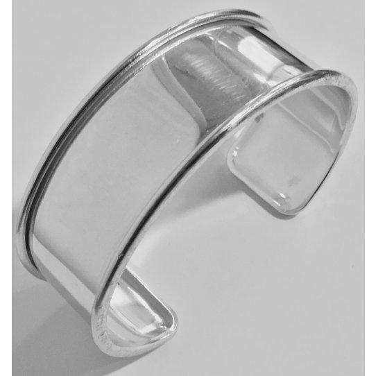 Bracelet Jonc 20 mm PLAQUE ARGENT 10 MICRONS EN FRANCE
