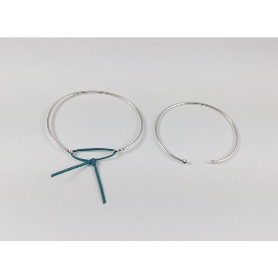 Bracelets jonc plaqué argent en France 10 microns,