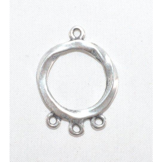 Cercle martelé avec 3 anneaux