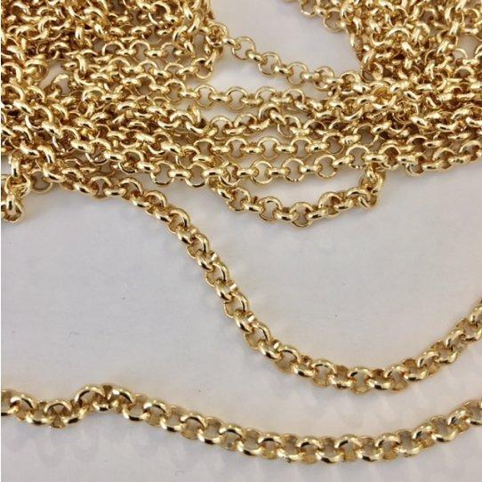 Chaine en aliminium doré-petite taille