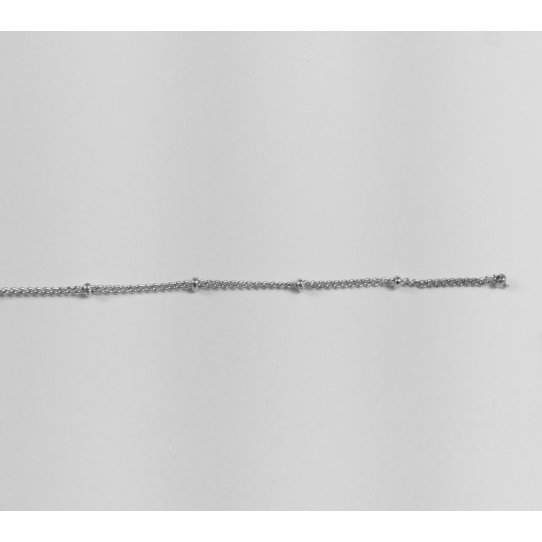 Chaine en laiton avec perles
