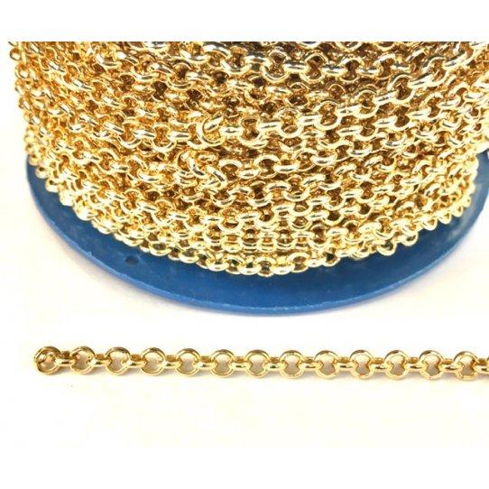 Chaine jaseron 4.5mm doré à l'or fin