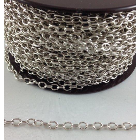 Chaine ovale en laiton  pour rallonge plaquée en France