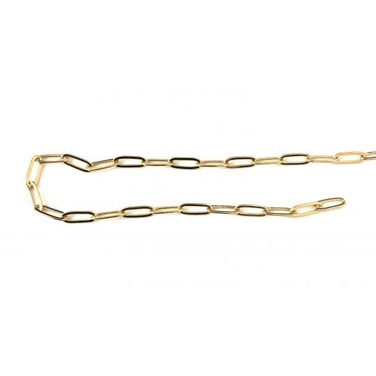 Chaine trombone 8x3mm, doré à l'or fin 24 carat en France