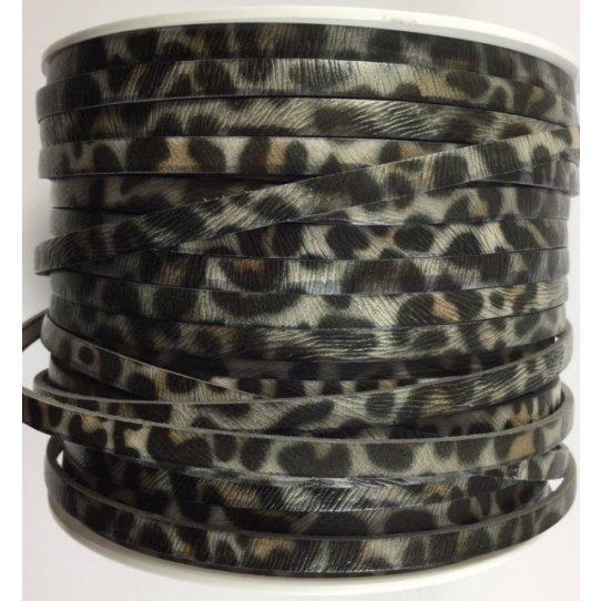 cuir 5mm léopard