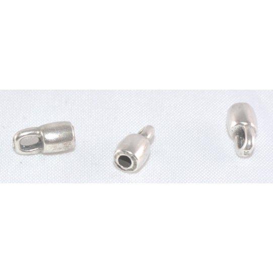 Embout avec anneau 2 mm pour cuir rond