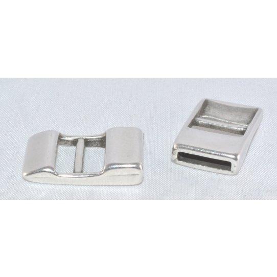 Fermoir boucle 10mm cuir plat