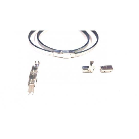 Fermoir en acier à clips ajustable 5x3mm