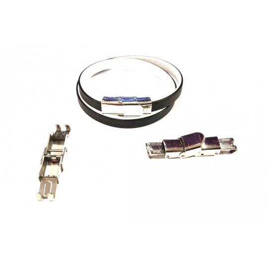 Fermoir en acier à clips ajustable 7x3mm