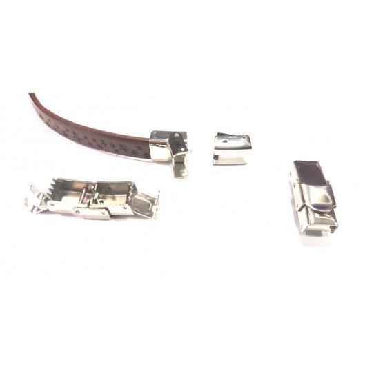 Fermoir en acier à clips ajustable 8x3mm