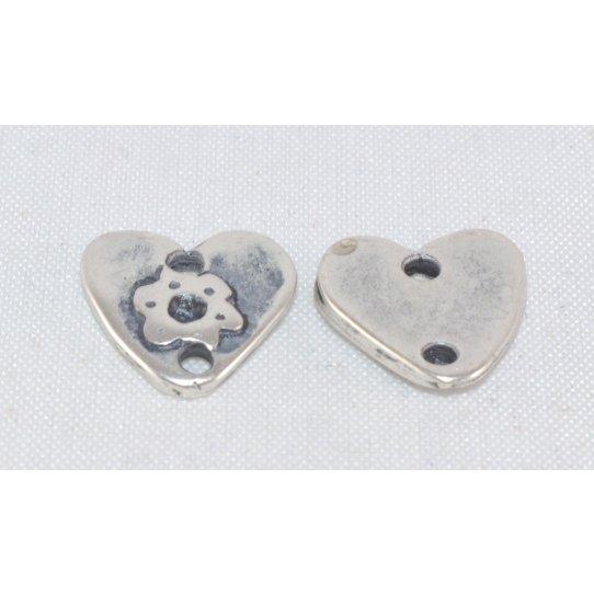 Intercalaire coeur avec 2 trous