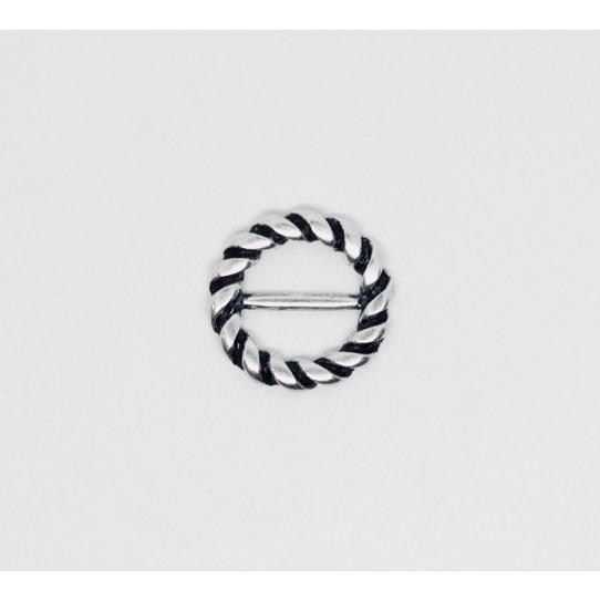 Intercalaire/Passant pour cuirs forme boucle de ceinture