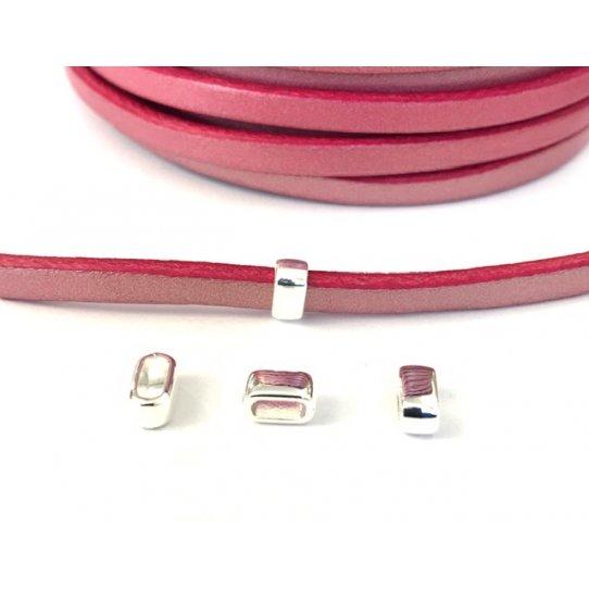 Passant simple pour cuir 5mm en zamac