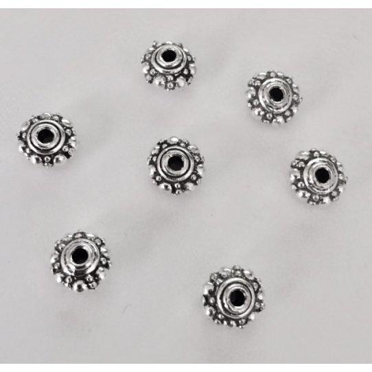 Passants en Etain 5mm motif diamanté