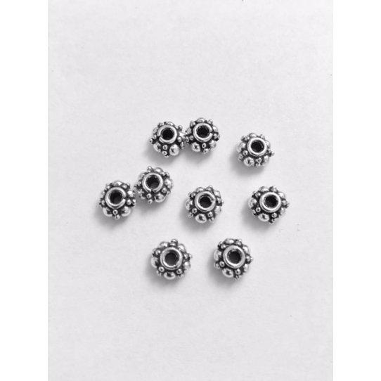 Passants en Etain 7mm motif diamanté
