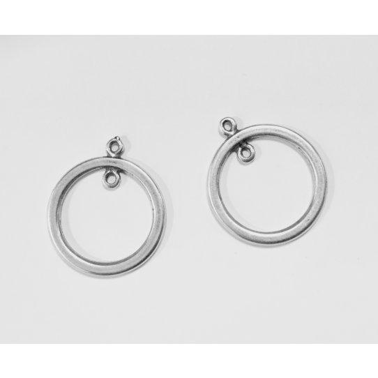 Pendant cercle avec anneau