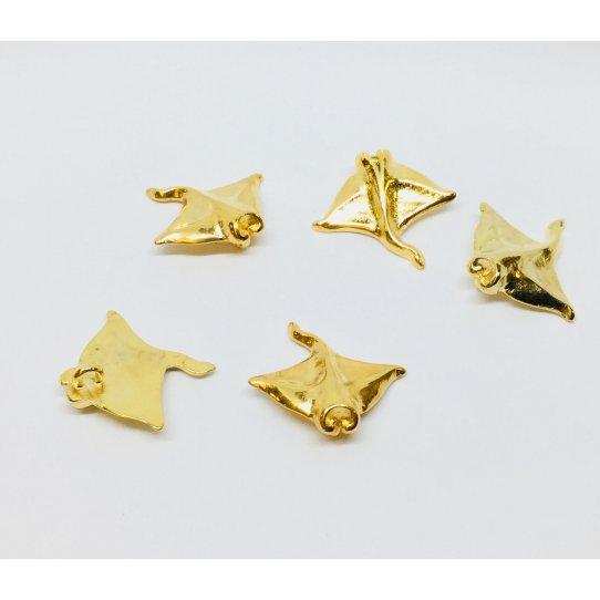 Pendant Manta doré à l'or fin en étain