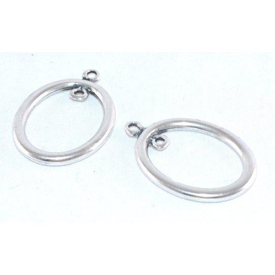 Pendant ou intercalaire ovale avec anneau
