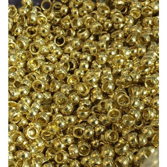 Perles à écraser no18 trou 1.80Doré Fab. FR