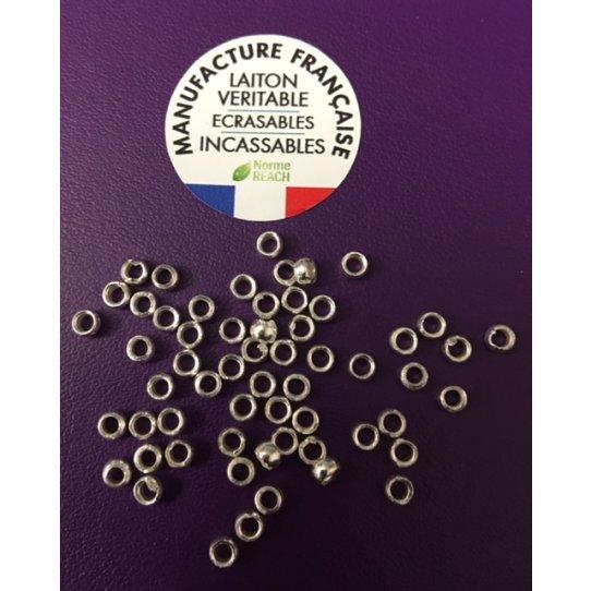 Perles à écraser no18, trou1.80mm