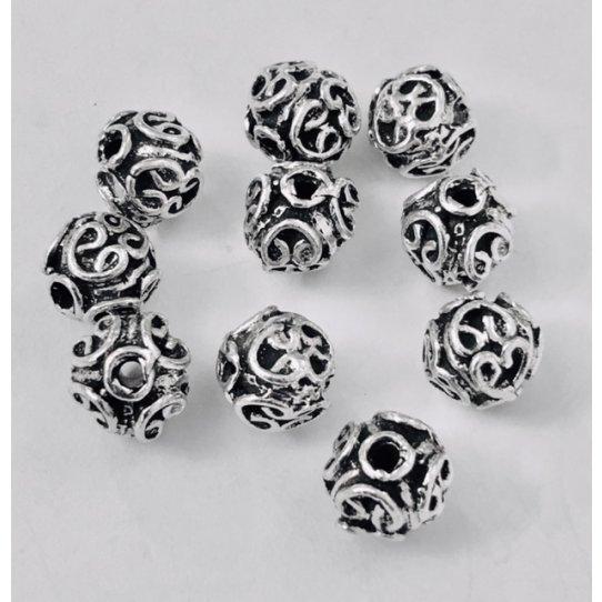 Perles en étain, fabrication Française, 10 microns