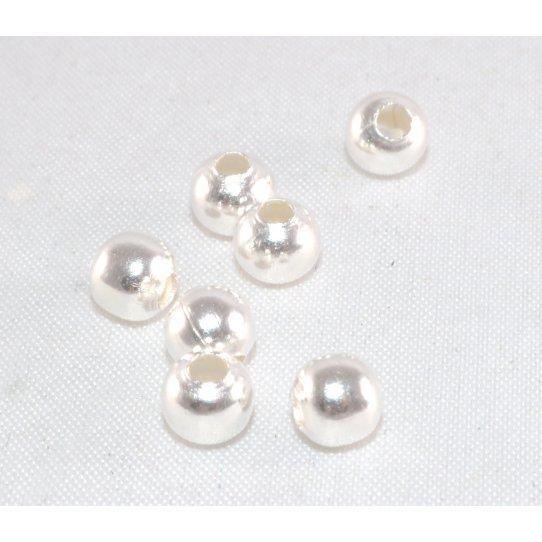 Perles en laiton 5mm plaqué en France