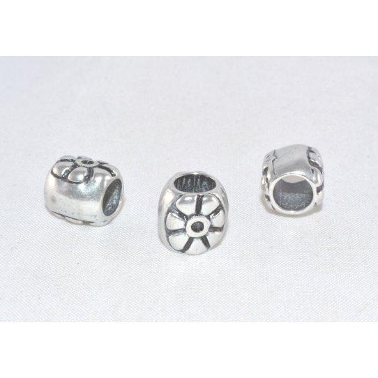 Perles ovale avec motif diam 5mm