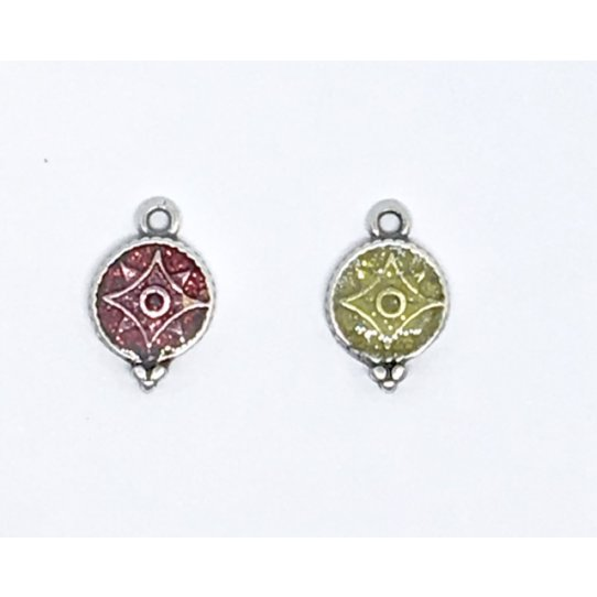 Petit pendant émaillé pour bijoux minimaliste